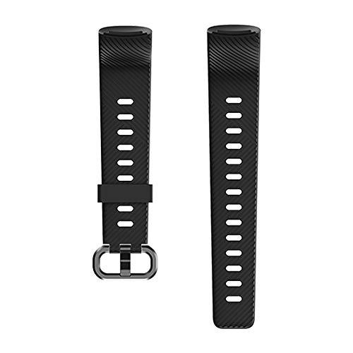 Kungix Uhrenarmband für 152 Fitness Armband, Silikon Sportband Ersatzband Uhrenband für Frauen Männer mit Vier Farben (Schwarz)