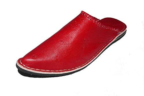 Marrakech Accessoires Orientalische Leder Schuhe Pantoffeln Hausschuh Slipper - Herren/Damen/Unisex - 905587-0004, Schuhgrösse:43