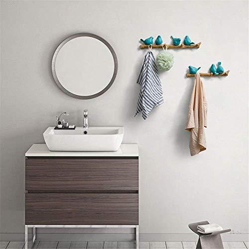 8bayfa, wandkapstok, haak voor handdoeken, hoed, wanddecoratie, sleutels voor kleerhangers thuis en werken aan de muur, kleur: zwart, maat: 4
