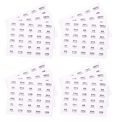 Hemoton 40St Cosmetische Fles Label Make-Up Fles Sticker Etherische Olie Fles Labels Tag Plakken Voor Diy Identificatie