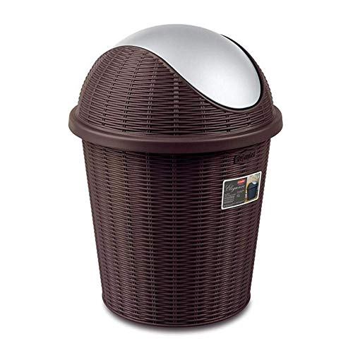 LIUCHANG Buck Bucket de Papel de desecho de Tipo de Basura/Redondo.36 cm (Color: D) liuchang20 (Color : D)