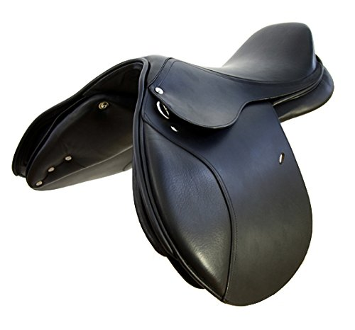 Springsattel LONDON aus Leder mit wechselbarem Kopfeisen Close Contact Sattel, Größe:18 Zoll