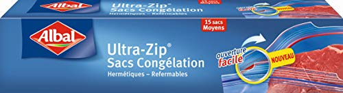 Albal 15 Sacs Congélation, Fermeture Ultra-Zip, Hermétique