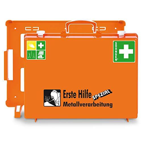 Erste-Hilfe-Koffer SPEZIAL - berufsrisikenbezogen, Inhalt nach DIN 13157 - Metallverarbeitung - Apotheke Apotheken Betriebssicherheit Erste Hilfe Erste-Hilfe Erste-Hilfe-Schrank Erste-Hilfe-Schränke Notfall Notfallkoffer Verbandkasten Verbandkästen