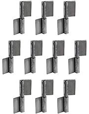 Gedotec Deurscharnier voor het lassen van lassen tape voor metalen deuren | scharnier hoogte: 80 mm | scharnier voor zware belasting voor tuinpoort & machines | 2 stuks - deurbanden voor stalen deuren & voertuigen