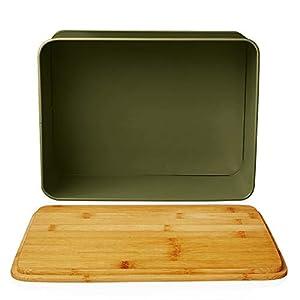Lumaland Bread bin with Bamboo lid - Grass Green