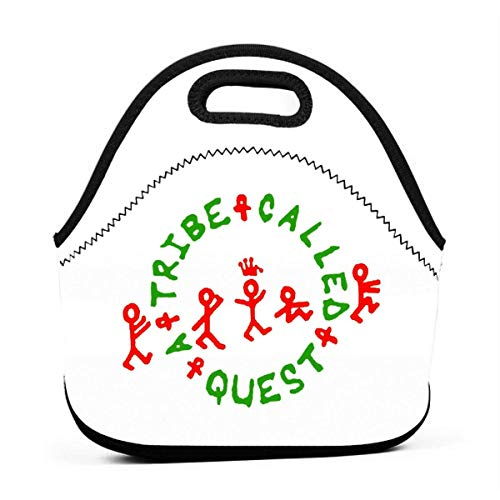 ZYWL Picnic Storage Bag Gourmet Handbag for Men Women A Tribe Called Quest Logo Reusable Zipper Bento Lunch Box Food Tote