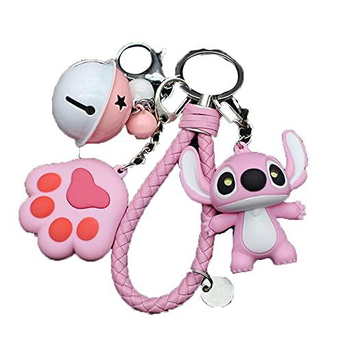JKDFGJ Lindo muñeco de peluche llavero creativo resplandor figura de anime mascota pata colgante llavero para mujeres niños juguetes regalo