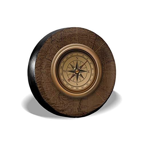 Hokdny Cubierta Universal de Ruedas de Repuesto 14inch,Impermeable Funda para Rueda de Repuesto para Coche, para Remolques, Casas Rodantes, SUV y Otros (Cubiertas de neumáticos-40)