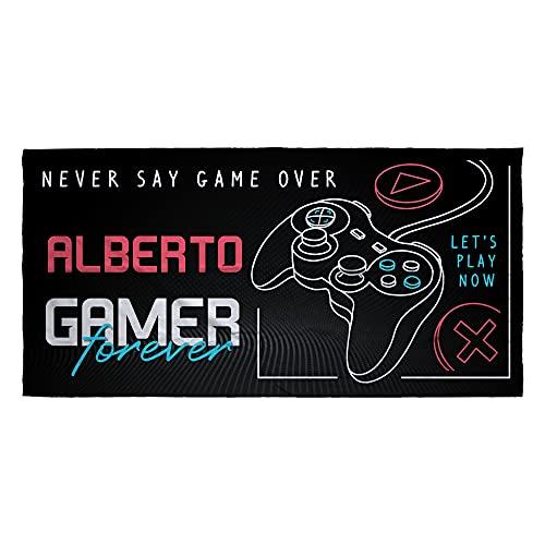 LolaPix Toalla Personalizada. Regalos Personalizados. Toalla de Playa. Toallas Personalizadas con Nombre. Varios diseños. Gamer Forever