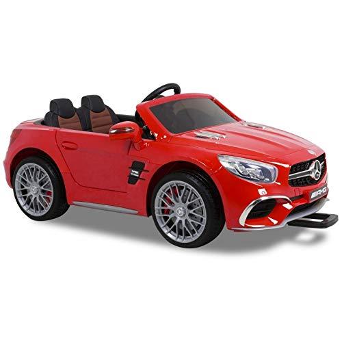 Mercedes SL65 con Mando y batería 12v - Rojo - Coche eléctrico para niños batería 12v y Mando Control Remoto - ATAA