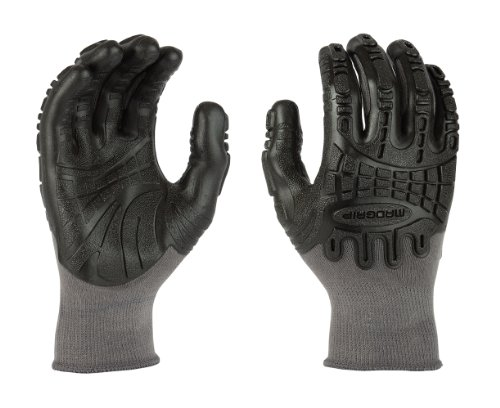 Mad Grip F50 Thunderdome Impact Glove, Grey/Black, Medium