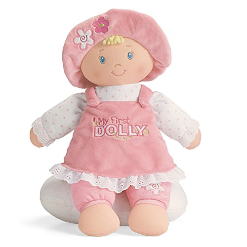 GUND My First Dolly Stuffed Plush Blonde Doll, 12'
