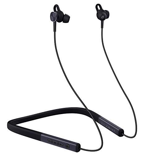 Auriculares Bluetooth 5.0 MYCARBON Auriculares con Cancelación Activa de Ruido (ANC) Audífonos Inalámbricos Cuello con Estéreo Cascos Magnéticos Auriculares Deportivos con Resistente al Agua IPX6
