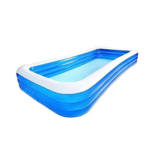 DYYD Adulto Piscina Grande Blow 1-8 Personas Uso Ground Up Piscina Resistente al Desgaste Grueso Tela Verano Centro de Deportes acuáticos