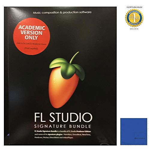 Fl Studio 20 Signature Edition Academic Student/Teacher Boxed with Microfiber and 1 Year Everything Music Extended Warranty