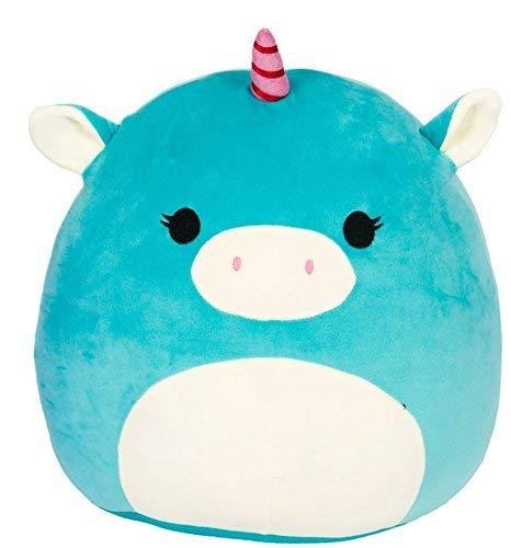 "SQUISHMALLOWS 5 Inch #1 Plush Toy - Super Soft Squishy Stuffed Animals Age 0+ - UNICORN 5"" ASSORTMENT (Ace the Turquoise Unicorn)"