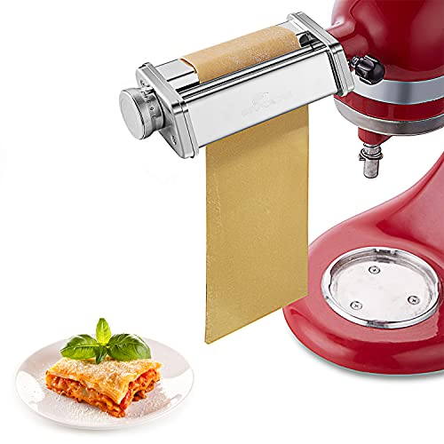 Pasta Roller Attachment for Kitchenaid Stand Mixer, Stainless Steel Pasta Attachment for KitchenAid Stand Mixer,Mixer Accessories by Gvode
