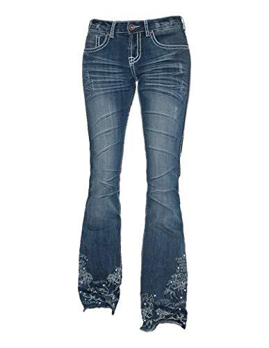 Cowgirl Tuff Western Jeans Women Trouser Fit 28 X-Long Med JUBLTR