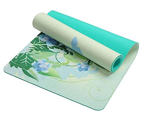 5.5 MM Lotus Pattern Suede TPE Yoga Mat Pad antideslizante adelgazar ejercicio fitness gimnasia estera culturismo Esterilla pilates