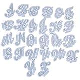 YUSHU 26 unids/set molde de resina de letras inglesas A-Z colgante en forma de alfabeto molde de silicona molde de cenicero de fundición moldes de resina de cera hechos a mano