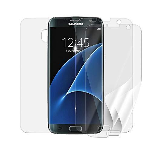 Screenshield Schutzfolie Samsung G935 Galaxy S7 Edge [3 Stück, 2 Versionen] - volle Abdeckung des Bildschirms & Rückseite; bei Nutzung mit oder ohne Handyhülle; kein Panzerglas