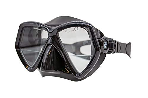 SHERWOOD SCUBA Oracle+ Bifocal Diving Mask for Computer, Camera or Gauge Reading - Black Silicone
