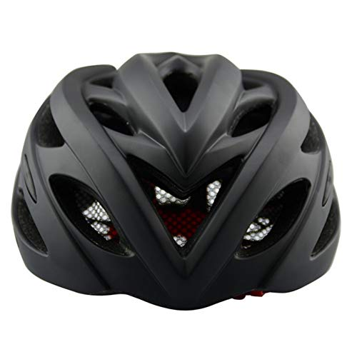 LJPHFF Casco De Color Negro Bicicleta Bicicleta Casco Ligero Moldeado Integralmente Carretera...