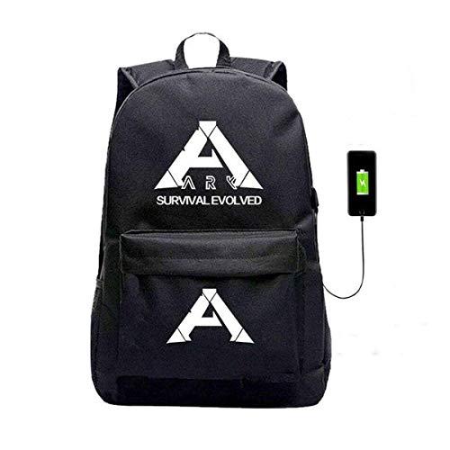 Ark Survival Evolved USB-Ladeanschluss, Oxford-Rucksack, inkl. Abzeichen