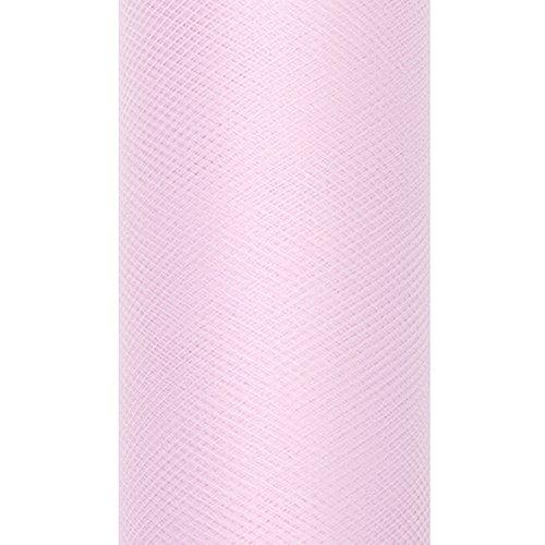 Unbekannt Dekoband Tüll 8 cm x 20 m Hellrosa Tüllstoff Dekostoff Geschenkbänder Schleifenband Gastgeschenke