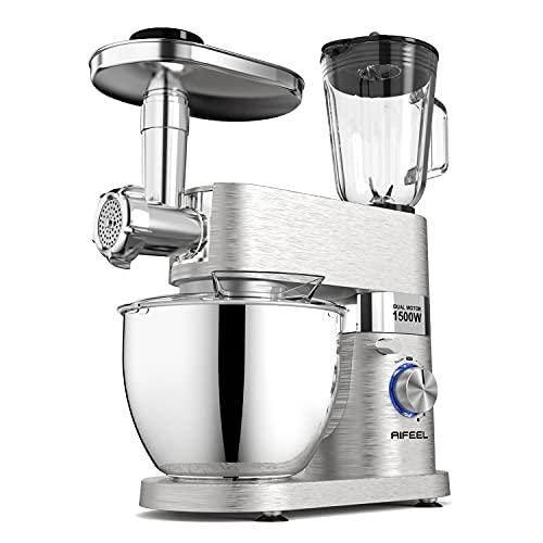 Aifeel Batidora de vaso, 1500 W, mezclador eléctrico de cocina con cuenco...