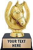 Crown Awards Horseshoe Trophy, 6' Golden Horseshoe Trophy with Custom Engraving