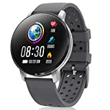 CatShin Smart Fitness Tracking Watch con Heart Monitor - CS06 Tracker di rilevamento attività IP68 Impermeabile con contapassi Compatibile con iOS e Android Watch (Grigio)