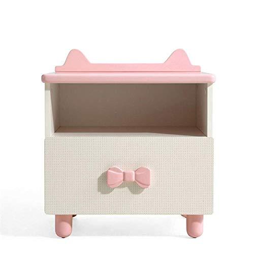Zuzanny Nachtkastje met plank en lade, nachtkastje voor slaapkamer, kast, opberger, voor slaapkamer en woonkamer roze