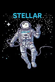 STELLAR LUMENS XLM ASTRONAUT TO THE MOON  Lined Journal Diary Notebook 6x9 inches with 120 Pages