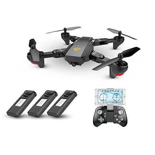 Goolsky VISUO XS809HW WiFi FPV 2.0MP 120 ¡ã FOV Larghezza Angolo Pieghevole Selfie Drone Altezza Presa RC Quadcopter G-Sensor RTF Extra Due Batteria
