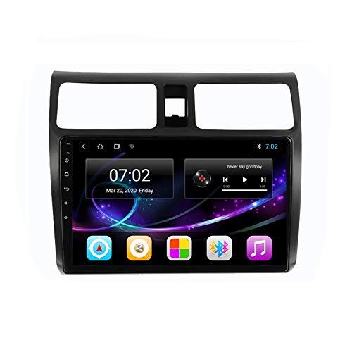2 DIN Radio De Coche, Autoradio con Bluetooth Manos Libres 10' Pantalla Táctil/Mirroring De La Pantalla/FM Tuner/SD Apoyo DSP Navegación GPS, para Suzuki Swift 2003-2010,Quad Core,WiFi 1+16