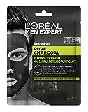 L'Oréal Paris Men Expert Pure Charcoal Mascarilla de Tejido Purificante para Hombres 30Gr 36 g - Lot de 4