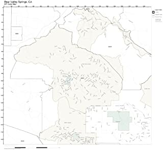 ZIP Code Wall Map of Bear Valley Springs, CA ZIP Code Map Laminated