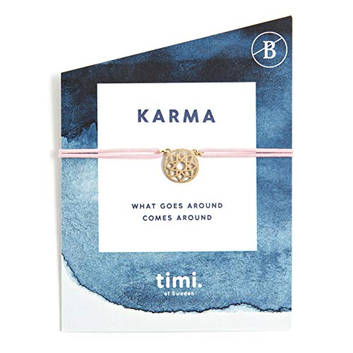 Mint TIMI of Sweden wenskaart Karma Mandala armband stretch goud roze vriendschapsarmband Make a Wish