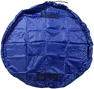 Portable Kids Toys Storage Bag Play Mat Rug Toy Organizer Bin Box Nylon 150cm,blue