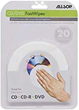 Allsop CD and DVD FastWipes, lint-free wipes for cleaning DVD, CD, PS1, PS2, XBOX &..