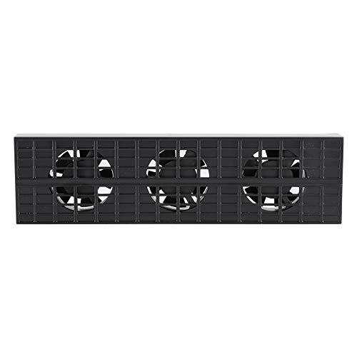 Ventilador para PS4 Slim,Control De Temperatura Inteligente Silencioso Ventilador De Disipación De Calor con 3 Puertos De Ventilador,Máquina De Juego Heat Exhauster Cooler-Diseño Ergonómico,Sin Polvo