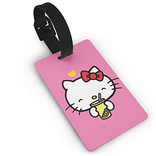 DNBCJJ Etiquetas de equipaje para maletas Hello Kitty Beber Equipaje, con nombre ID maleta para mujeres, hombres, niños y accesorios de viaje