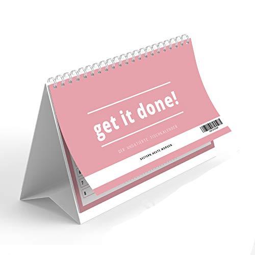 Tischkalender als Wochenplaner im Quer Format |Ohne festes Datum 365 Tage | 52 Wochen - Wochenkalender 2021 | To do Liste Terminkalender von gestern.heute.morgen