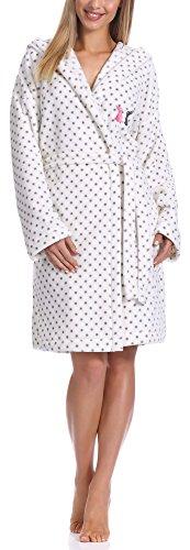 L&L Albornoz con Capucha Ropa de Casa Mujer LL0101 (Blanco/Grafito, XL)