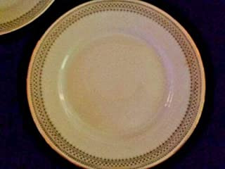 K & A Krautheim Selb Bavaria Black & Gold Geometic 7187 Pattern Replacement Saucer For Soup Bowl
