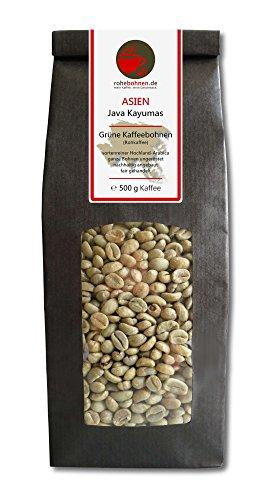 Rohkaffee - Grüner Hochland Kaffee Java Kayumas (grüne Kaffeebohnen 500g)
