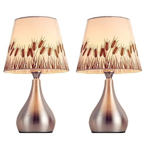 XILIN-1987 Lámparas de Escritorio Juego de 2 lámparas de sobremesa Minimalistas Modernas y cálidas, con mesitas de Noche Lámpara de Mesa para niños