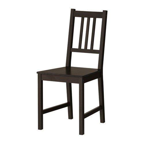Ikea STEFAN Stuhl in braunschwarz; aus Massivholz